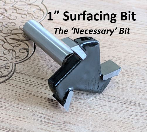 """Buy 1"""" Surfacing Bit For CNC Router, 1/4"""" shank"""