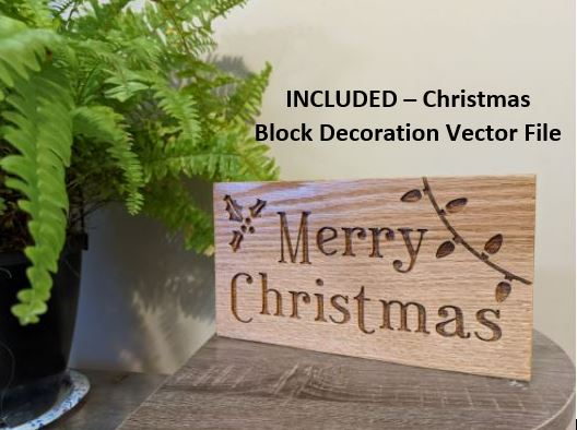 Christmas Block Decoration Vector File For CNC Routers