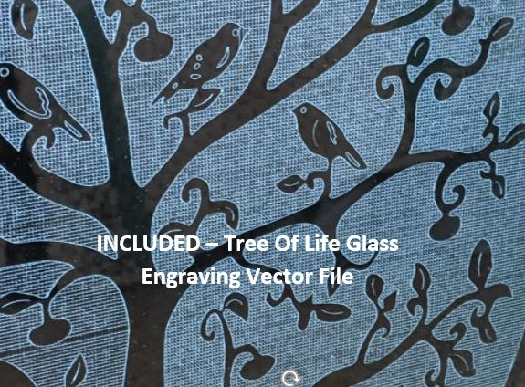 Tree Of Life Glass Engraving Vector File For CNC Routers