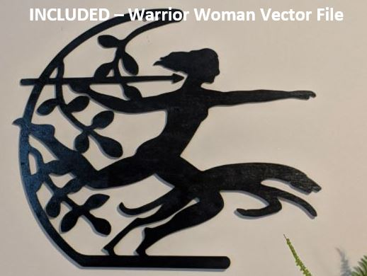 Warrior Woman Vector File For CNC Routers
