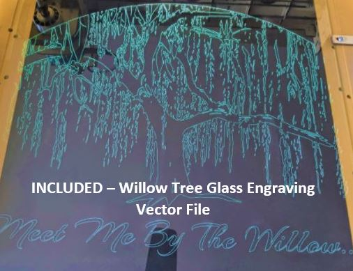 Willow Tree Glass Engraving Vector File For CNC Routers